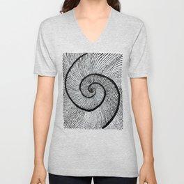Double shell Fibonacci spiral Golden spiral Unisex V-Neck