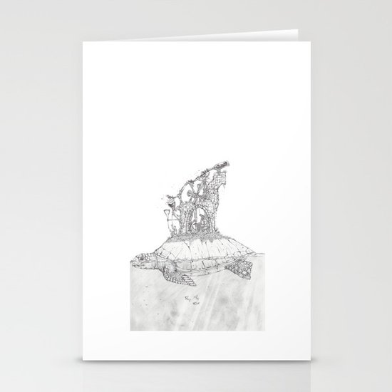 Turtle.  Stationery Cards