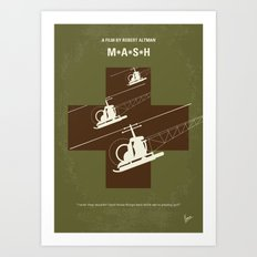 No733 My MASH minimal movie poster Art Print