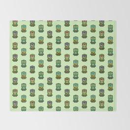Chibi Ninja Turtles Throw Blanket