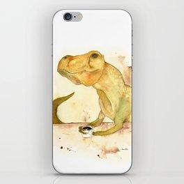 T-Rex Morning Coffee iPhone Skin