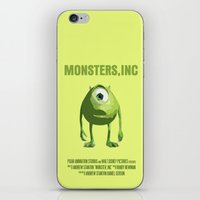 monsters inc iPhone & iPod Skins featuring Monsters, Inc by FunnyFaceArt