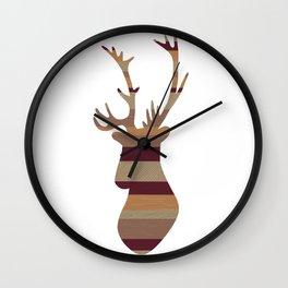Planking I Wall Clock