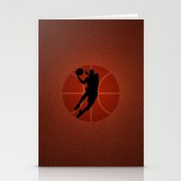 lakers Stationery Cards featuring SLAM DUNK - JORDAN by alexa