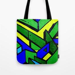 Green and blue graffiti - street art Tote Bag
