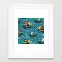 mermaids Framed Art Prints featuring Mermaids by Miss Fortune