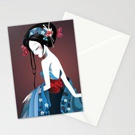 Geisha la blanche Stationery Cards