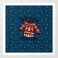 sweater Art Prints featuring Sweater by Mr & Mrs Quirynen