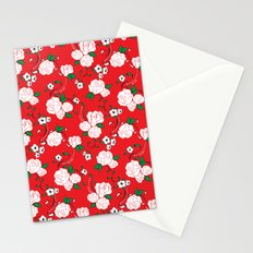 Muerta Roses Red Stationery Cards