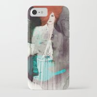 fashion illustration iPhone & iPod Cases featuring FASHION ILLUSTRATION 11 by Justyna Kucharska