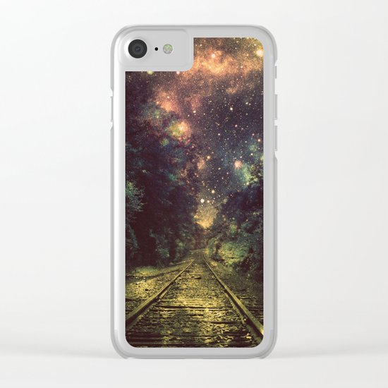 Train Tracks Clear iPhone Case