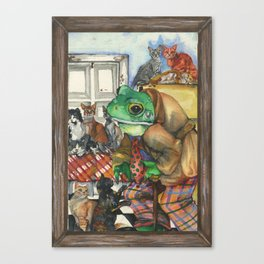 Hermit, a Frog Canvas Print
