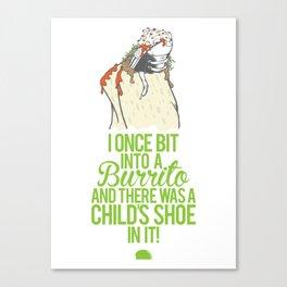 Burrito Shoe Canvas Print