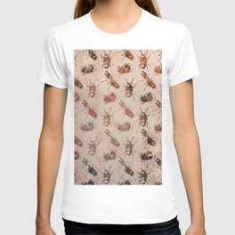 hot buggy mess persimmon brown T-shirt