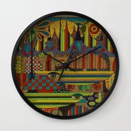 Ghe Ngo [Khmer Boats] Wall Clock
