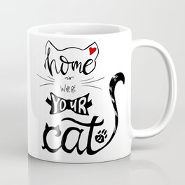 Home is where your cat is Coffee Mug