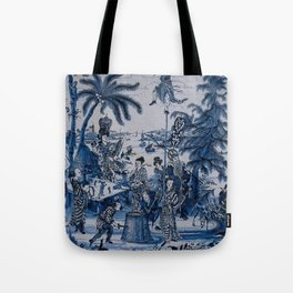 17th Century Delftware Chinoiserie Tote Bag