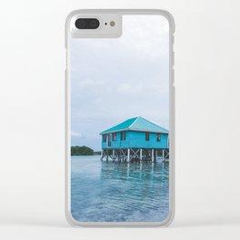Island Retreat Clear iPhone Case