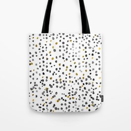 Dots Gold Black and White Tote Bag