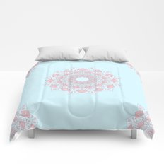 Blue & Pink Mandalas Comforters