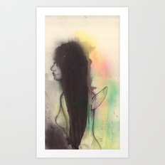 Nude angel Art Print