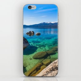 Let's Jump In At Sand Harbor, Lake Tahoe iPhone Skin