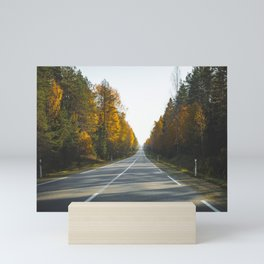 Road Trip Time. || Eurotrip. || Autumn Landscape. || Road. || Highway. || Nature. Mini Art Print