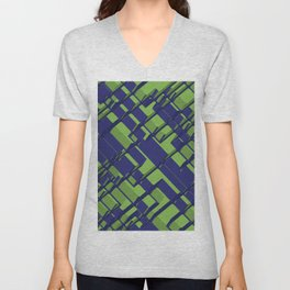 3D Abstract Futuristic Background III Unisex V-Neck
