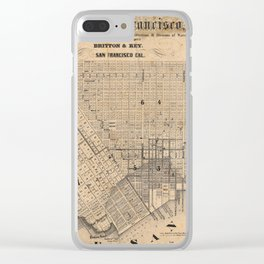 Old Map Of San Francisco Clear iPhone Case