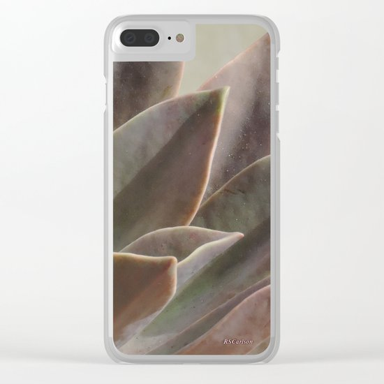 TEXTURES: Succulent Looks East Clear iPhone Case