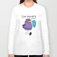 my mad fat diary Long Sleeve T-shirts featuring Fat Cat by Andi Bird