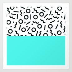 Memphis pattern 43 Art Print