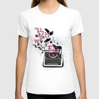 typewriter T-shirts featuring typewriter by Natasha79