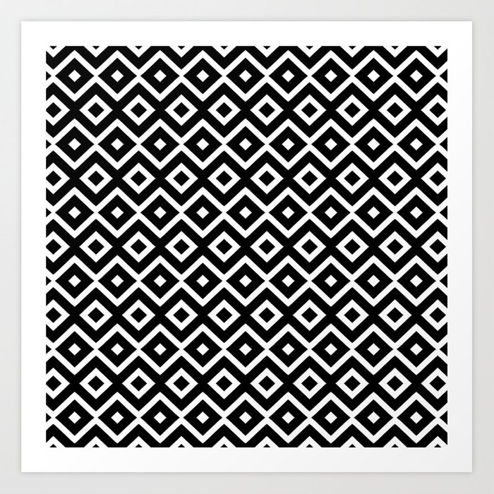 B&W Maze Art Print