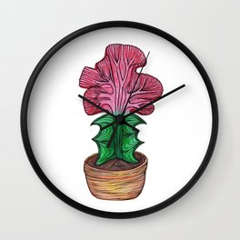 Curvy Cactus Wall Clock