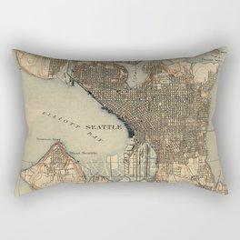 Vintage Map of Seattle Washington (1908) 2 Rectangular Pillow