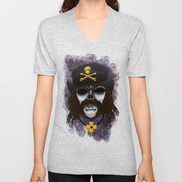 Lemmy style Errorface skull Unisex V-Neck