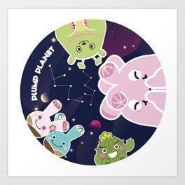 Plump Planet in Galaxy Art Print