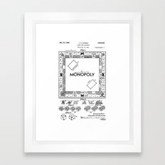Monopoly Patent drawing Framed Art Print