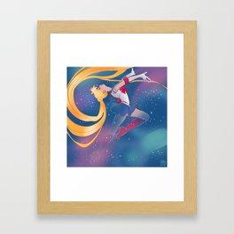 Sailor Moon Transformation  Framed Art Print