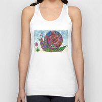 snail Tank Tops featuring Snail by WelshPixie
