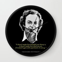 Richard Feynman Quote Wall Clock