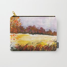 Whispering Grove, Watercolor Landscape Art Carry-All Pouch