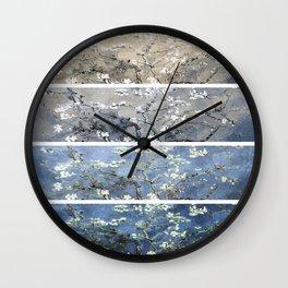 Vincent Van Gogh : Almond Blossoms Panel Art Blue Beige Wall Clock