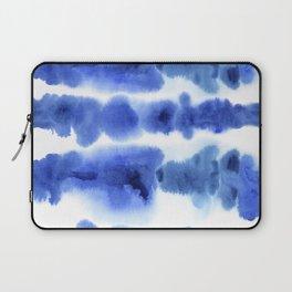 Indigo Watercolor Pattern 13 Laptop Sleeve