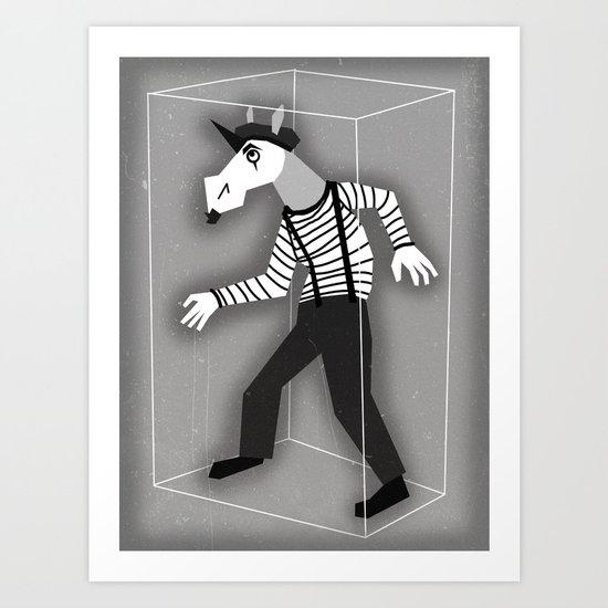 Mime Unicorn Art Print