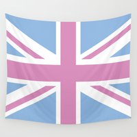 union jack Wall Tapestries featuring Union Jack Light by McGrathDesigns