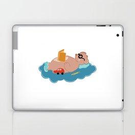 Cute bear reading book Laptop & iPad Skin