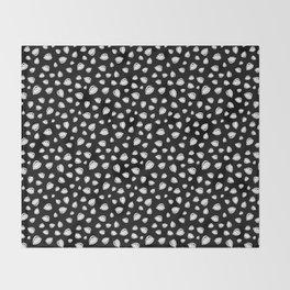 Eyeroll on Repeat Black Throw Blanket