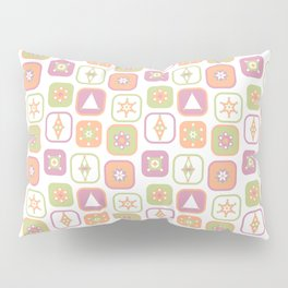 Abstract geometric pattern in pastel colors Pillow Sham